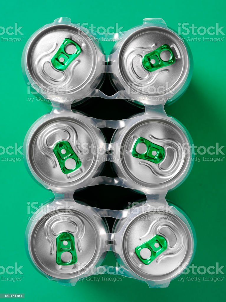 Six pack of Beer royalty-free stock photo