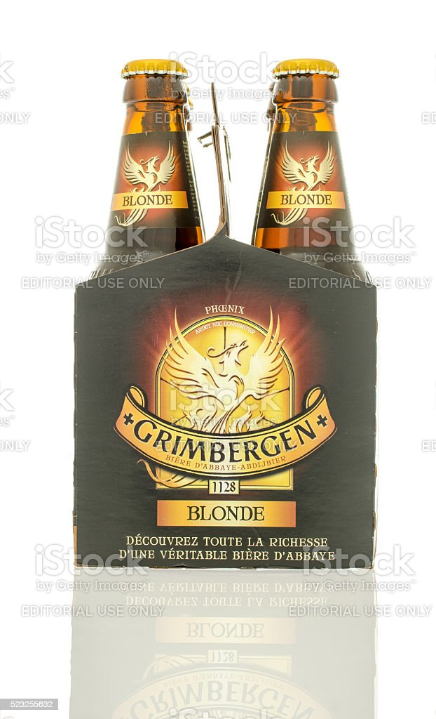 Six Pack of Beer stock photo