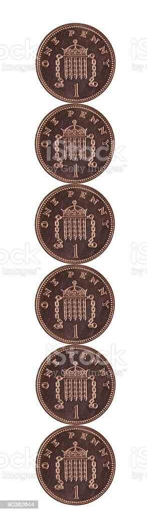 Six Pence royalty-free stock photo
