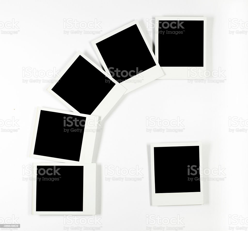 Six Photo frames with clipping paths royalty-free stock photo