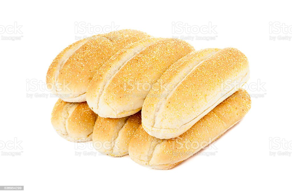 six pieces of bread stock photo