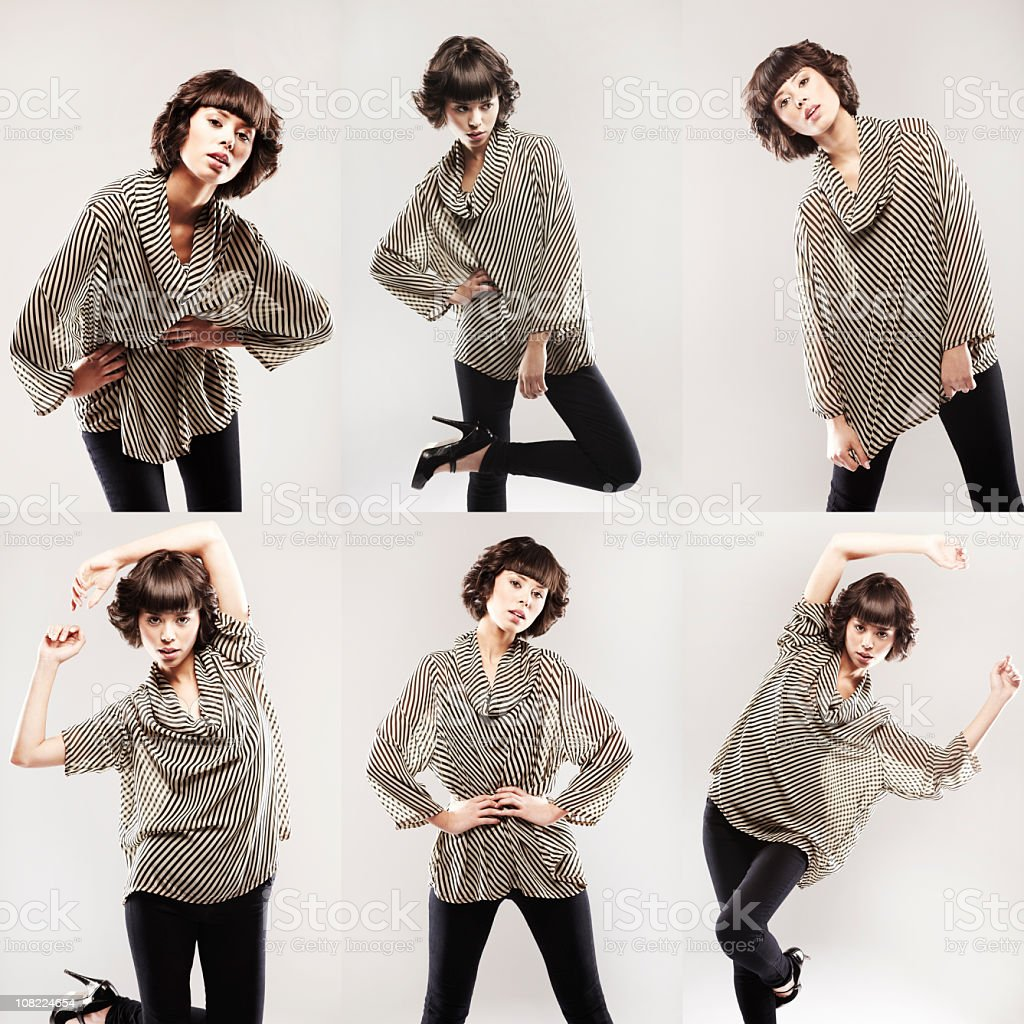 Six Poses stock photo