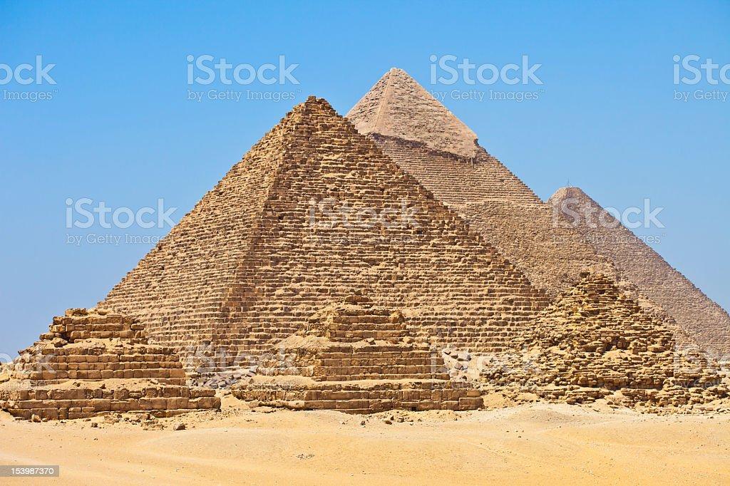 Six Pyramids royalty-free stock photo