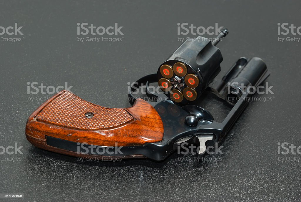 Six shooter stock photo
