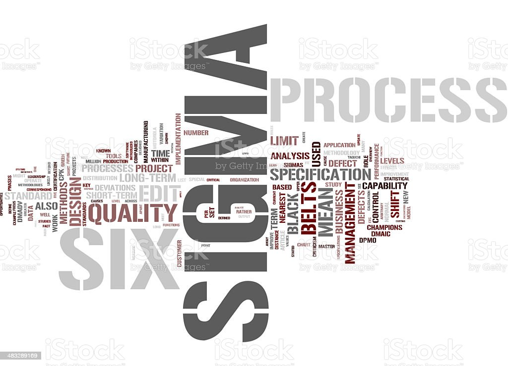 Six Sigma collage concepts stock photo