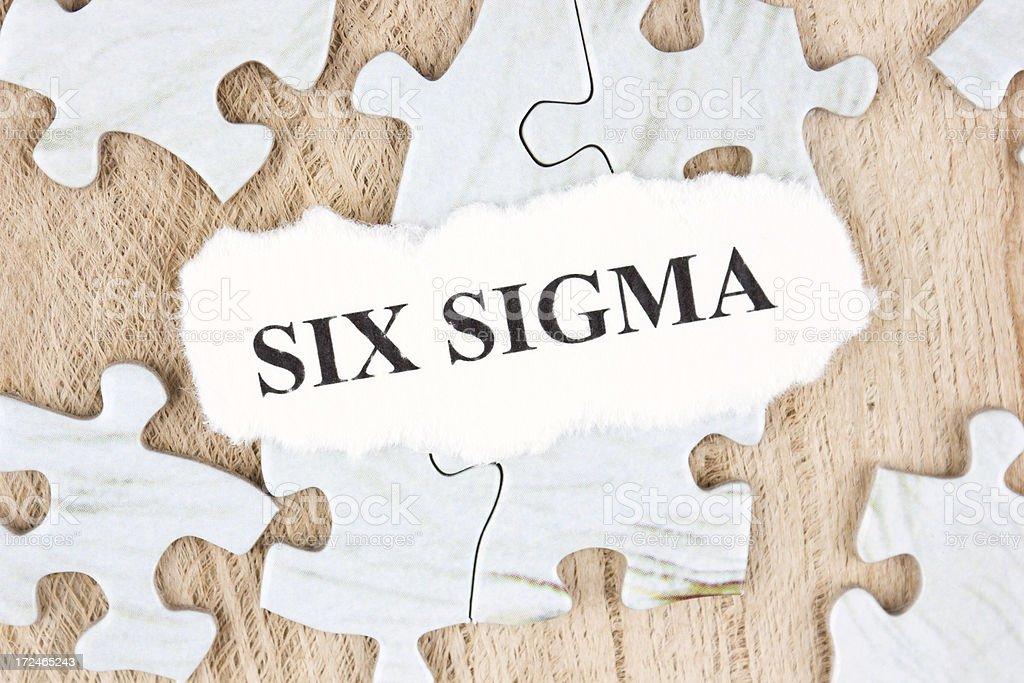 Six sigma royalty-free stock photo