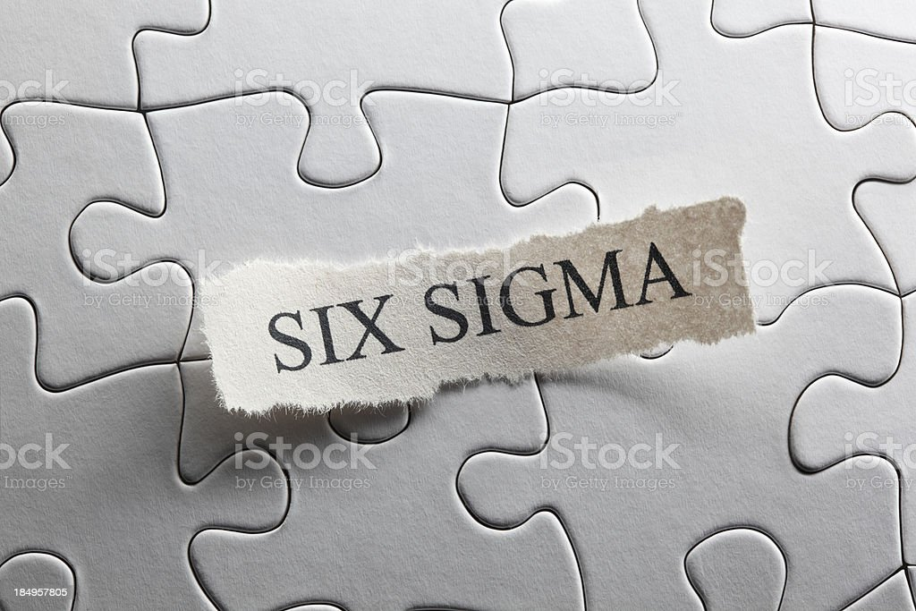 Six Sigma royalty-free stock photo