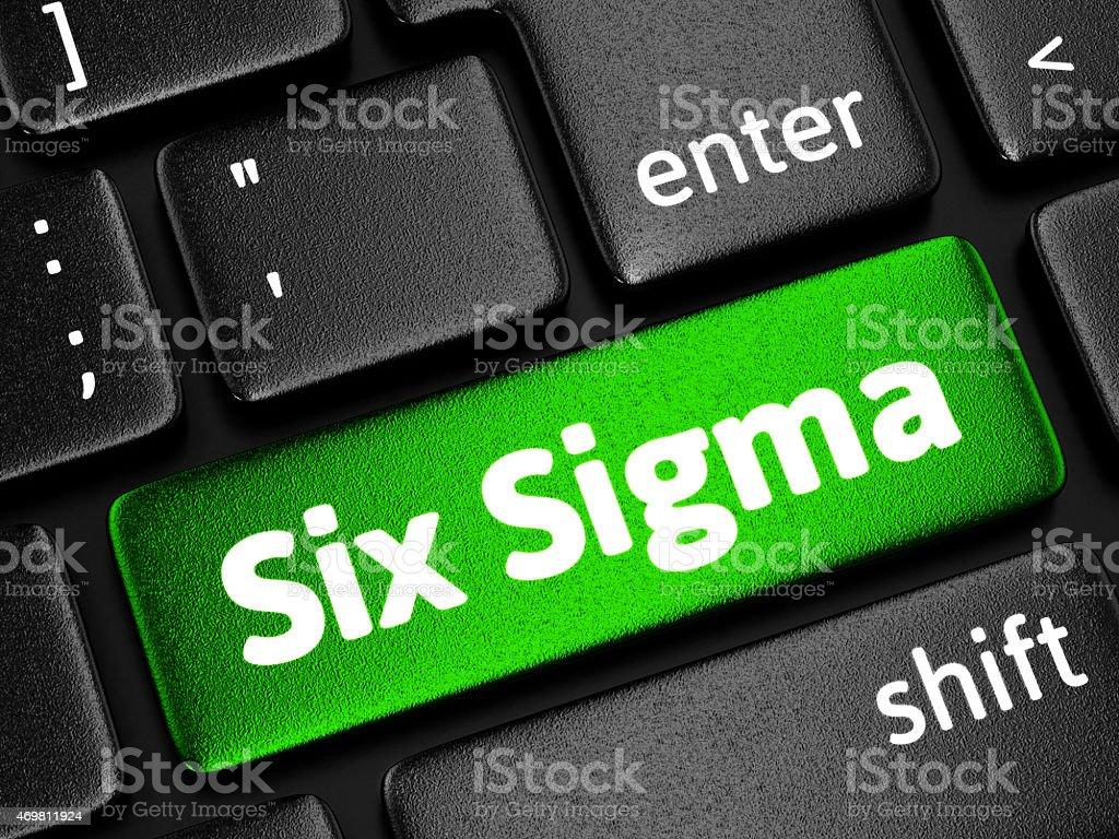 Six Sigma stock photo