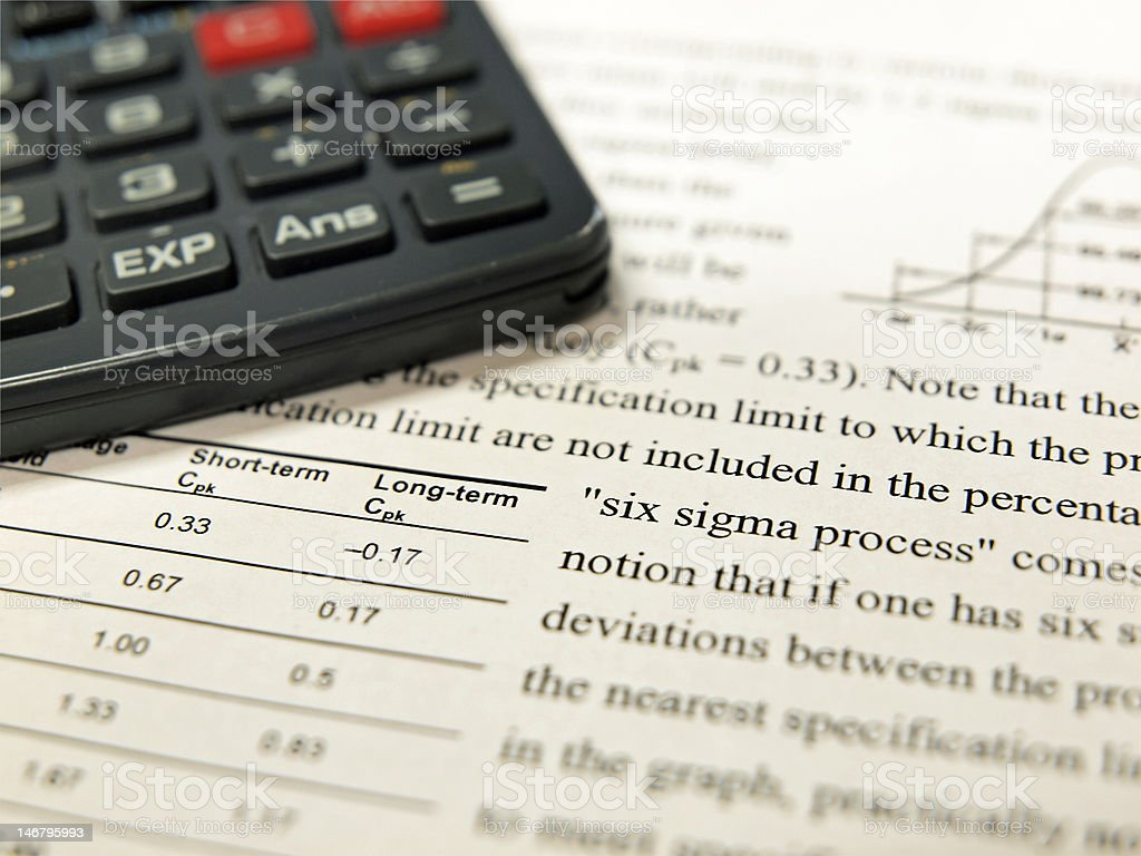Six Sigma Process royalty-free stock photo