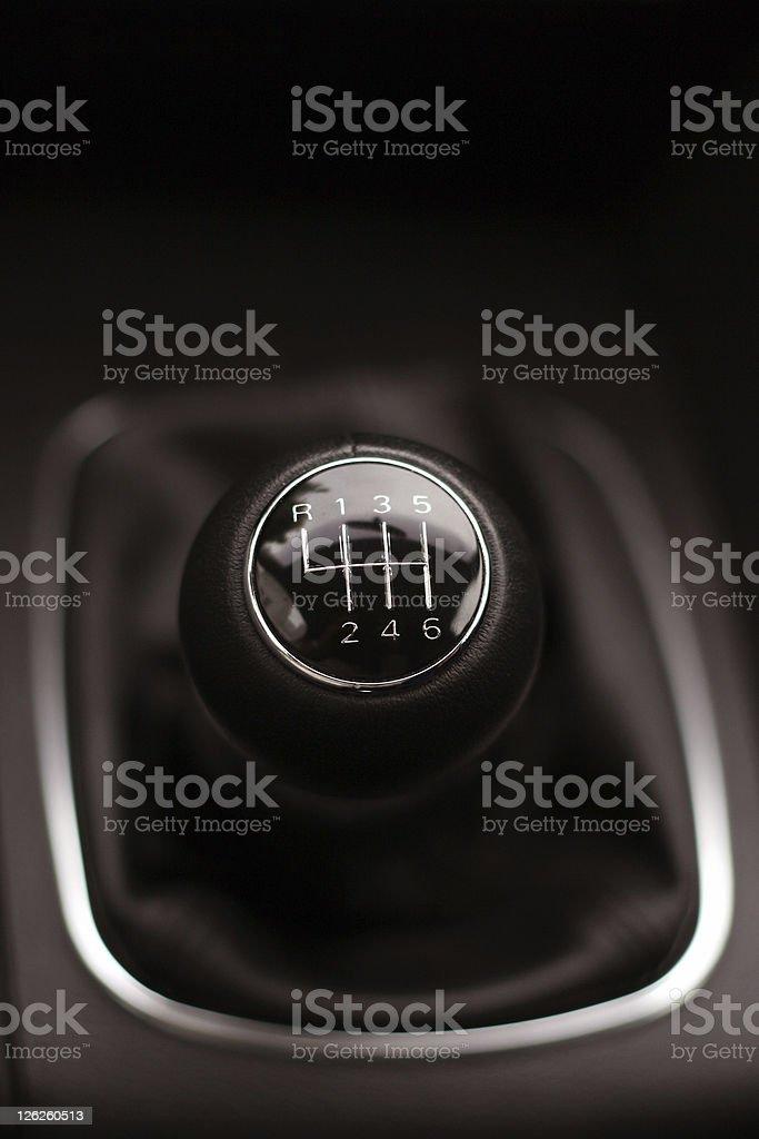 Six Speed Gear Stick stock photo