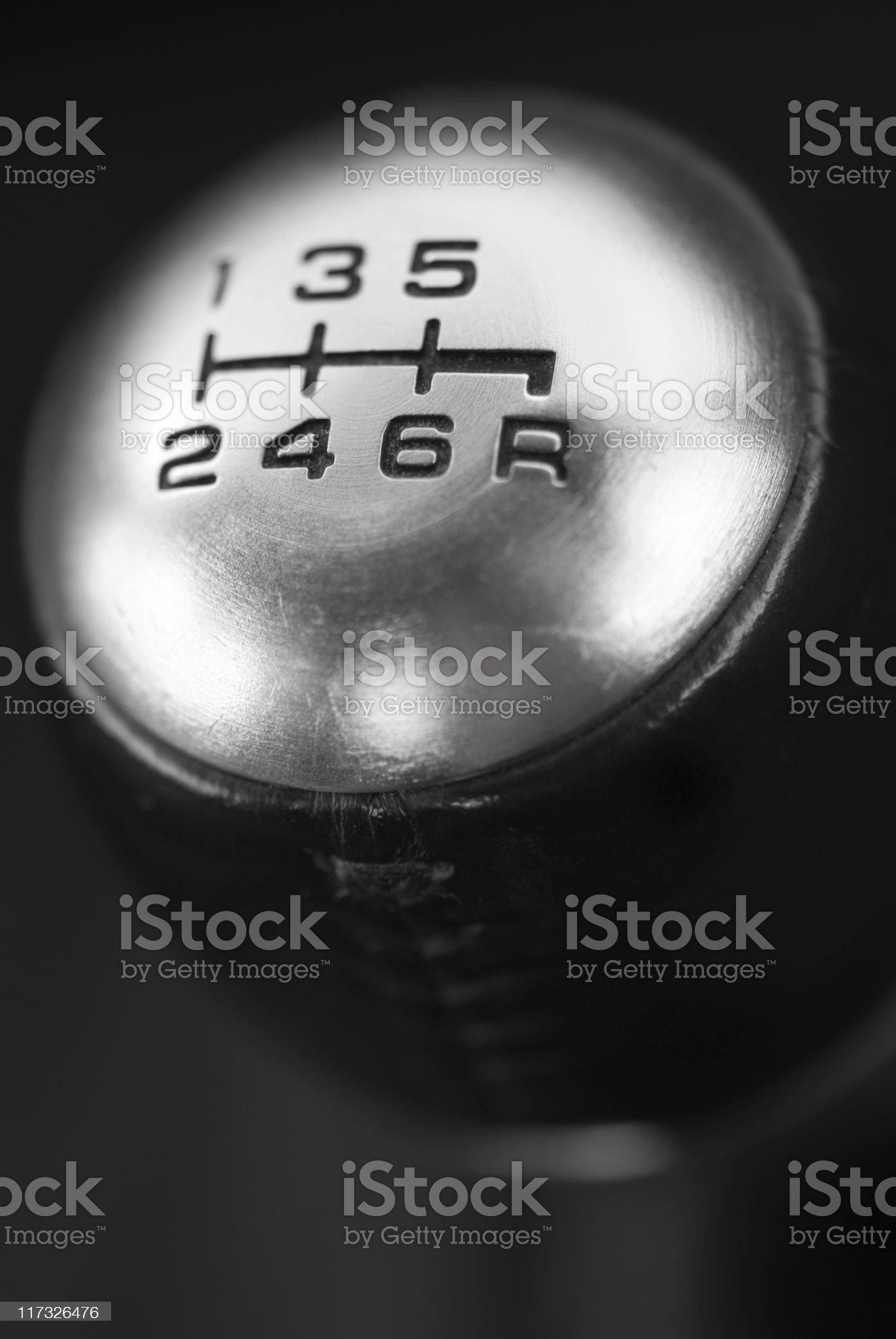 Six Speed Gearshift royalty-free stock photo