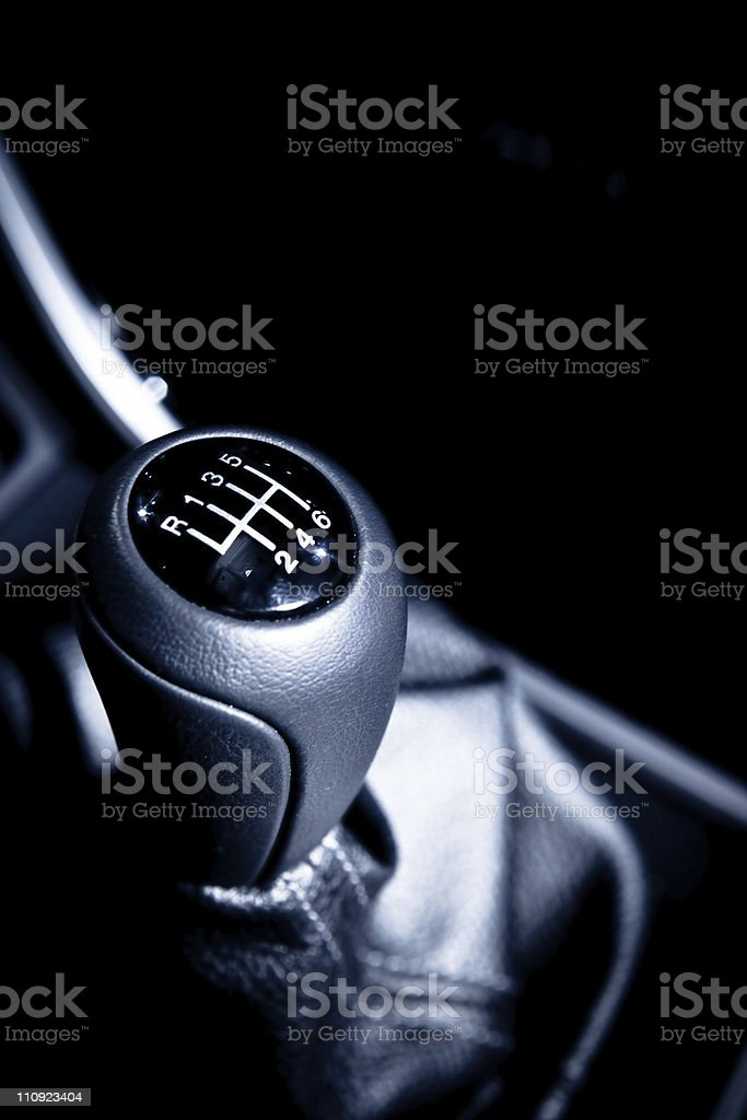 Six speed manual gear shift royalty-free stock photo
