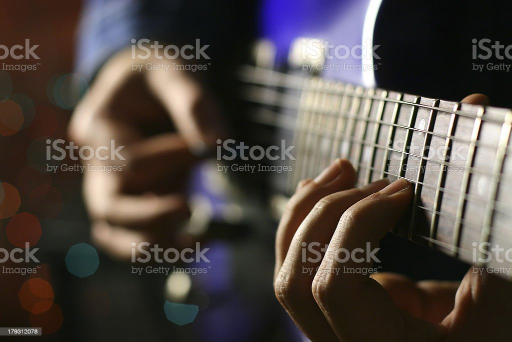 six string solo stock photo