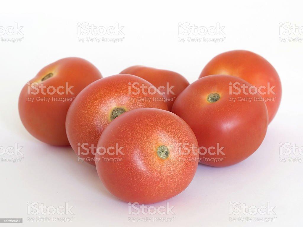 Six Tomatoes royalty-free stock photo