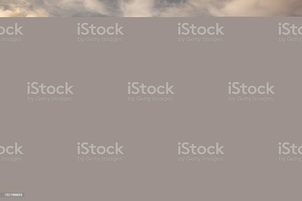 six wind turbines at sunset horizon royalty-free stock photo