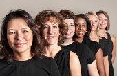 Six Women in Black