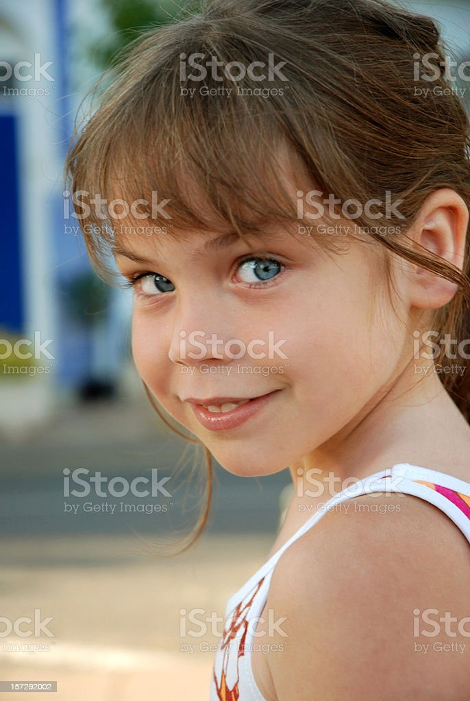 Six years old. royalty-free stock photo
