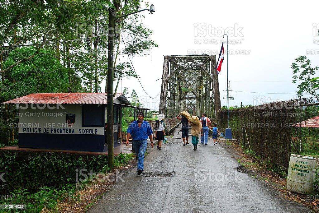 Sixaola border crossing Costa Rica to Panama stock photo