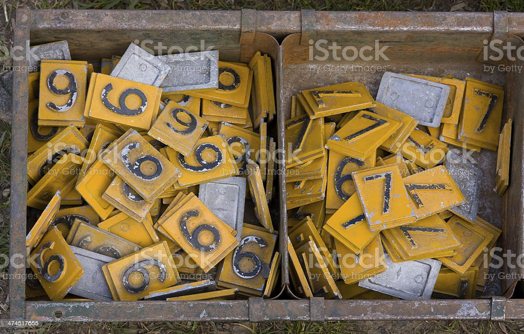 sixes and sevens royalty-free stock photo