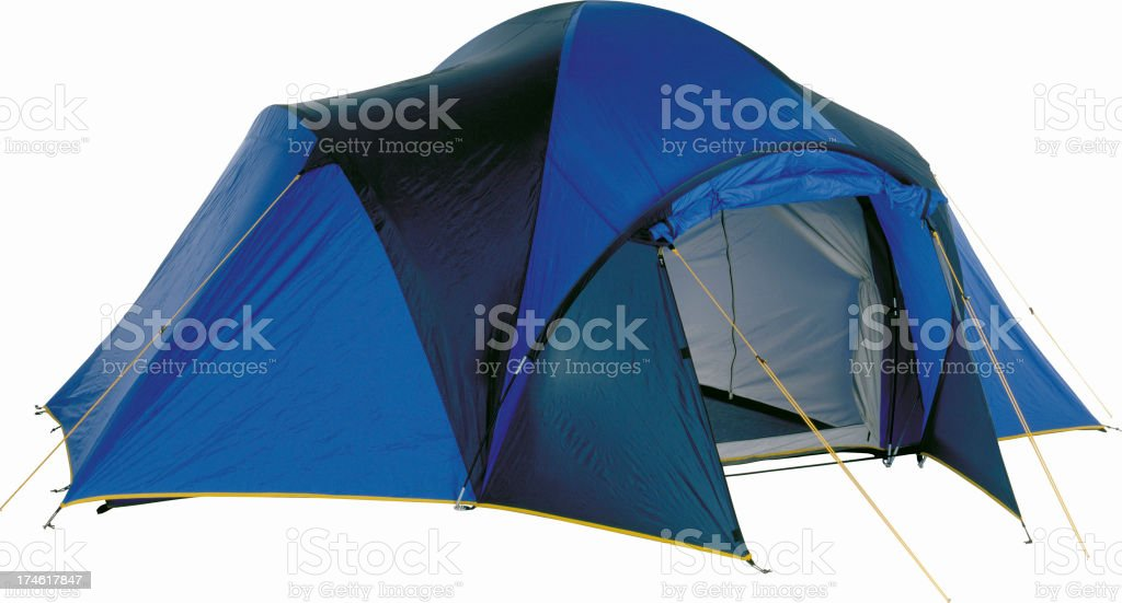 Six-Person Dome Tent, camping and campsite stock photo