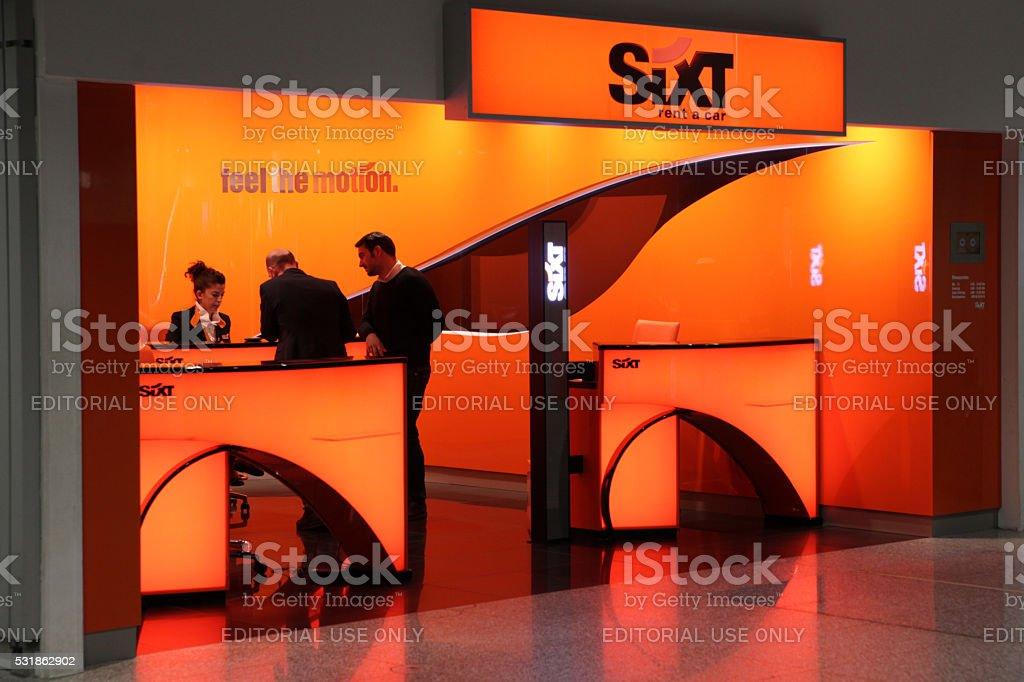 Sixt car rental station stock photo