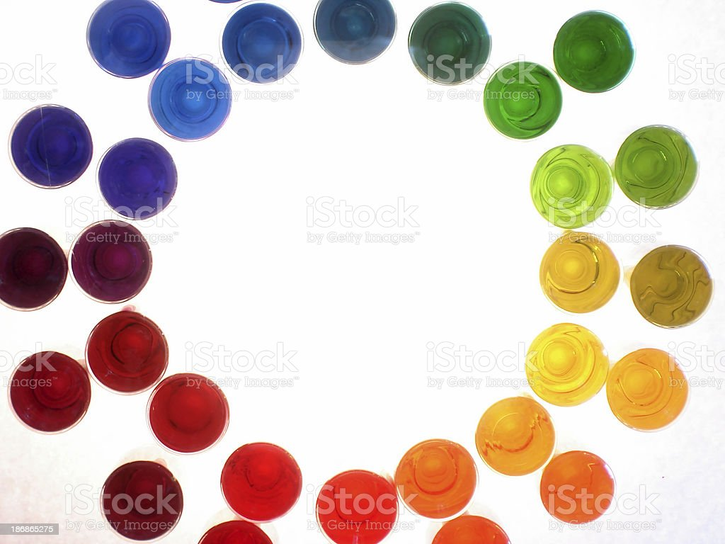 sixteen colors series - liquid inks royalty-free stock photo