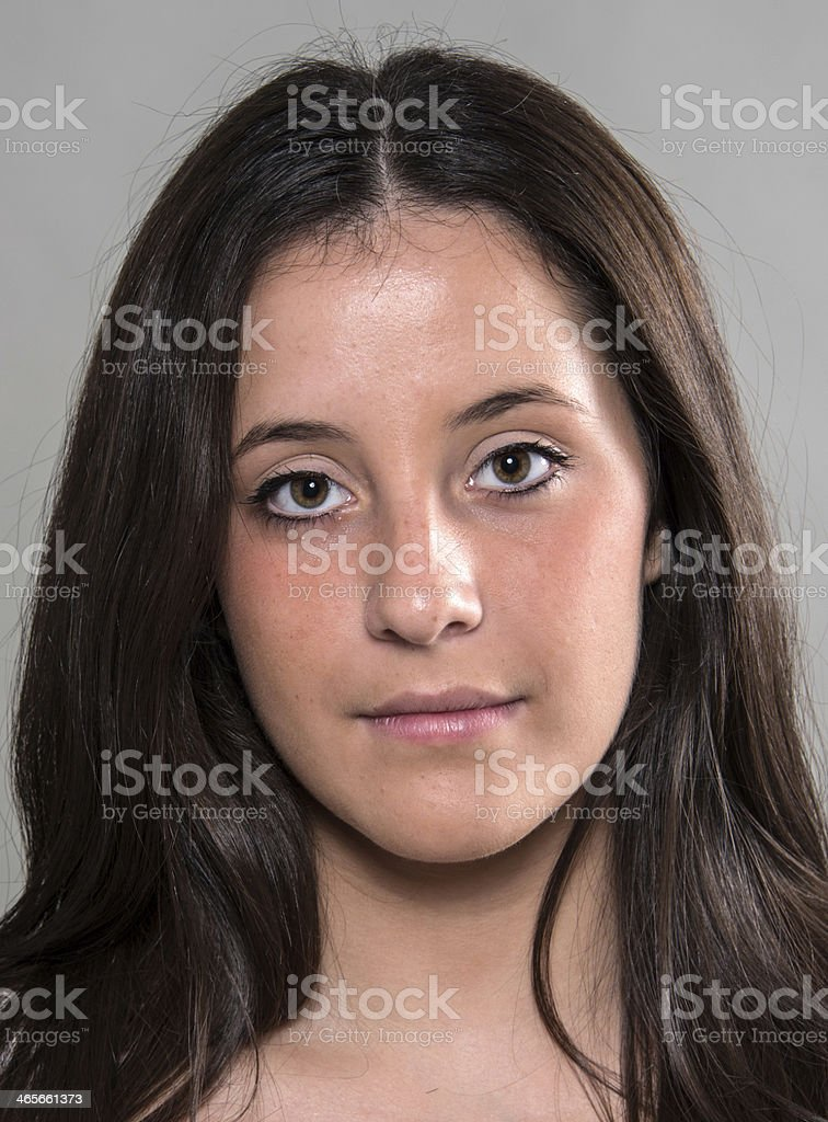 sixteen years old spanish girl stock photo