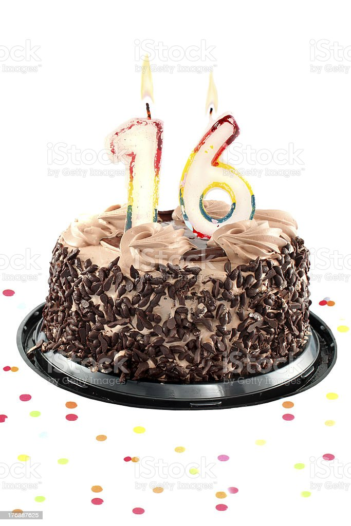 Sixteenth birthday or anniversary royalty-free stock photo