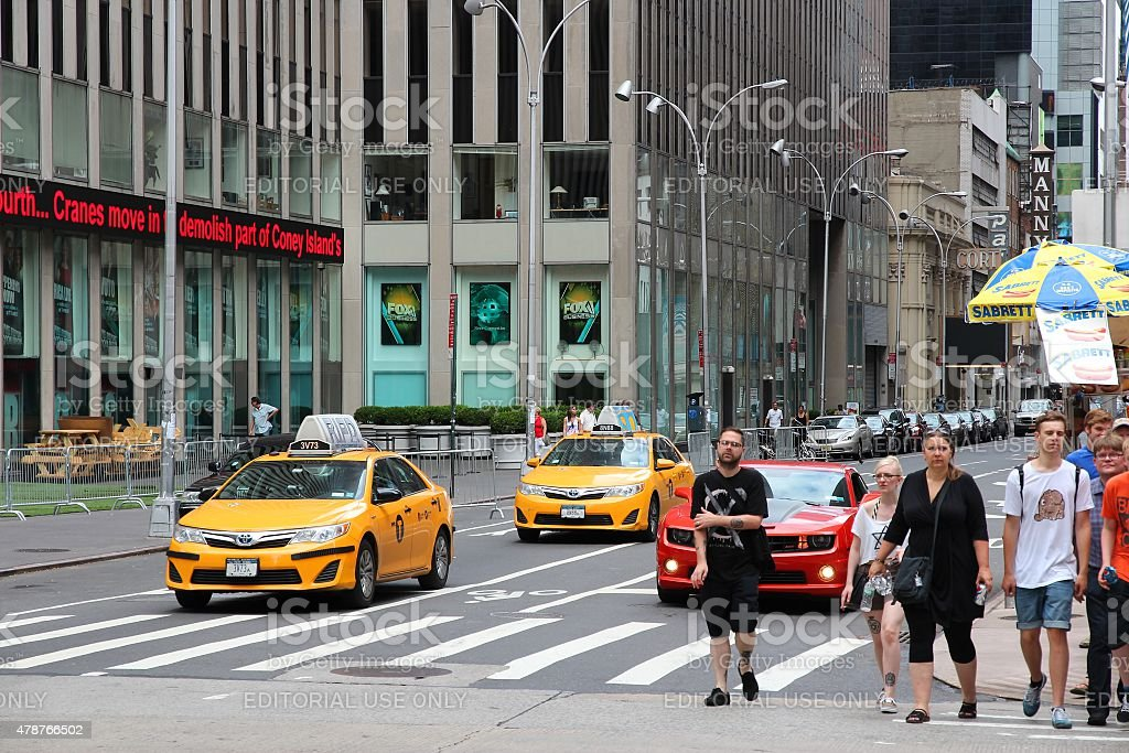 Sixth Avenue stock photo