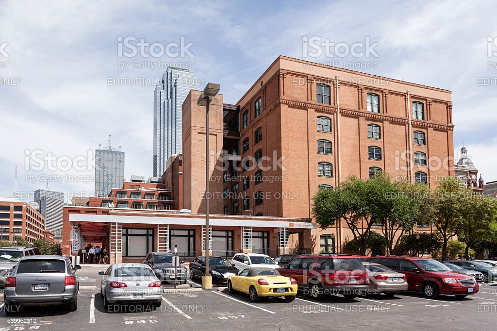 Sixth Floor Museum at Dealey Plaza in Dallas stock photo