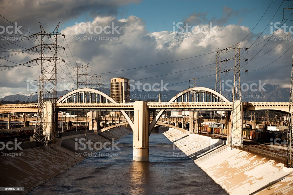 Sixth Street Bridge royalty-free stock photo