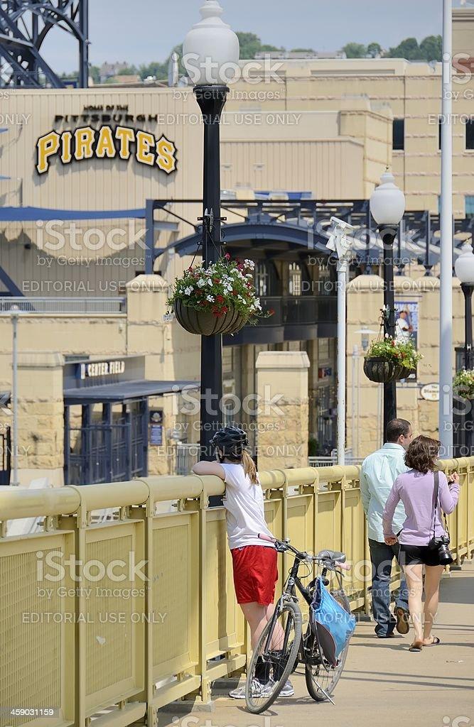 Sixth Street Bridge, Pittsburgh royalty-free stock photo
