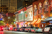 Sixth Street Entertainment District in Austin Texas USA