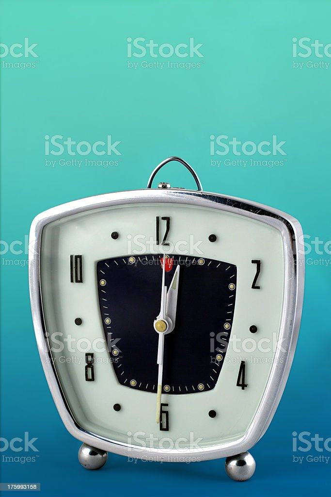 sixties alarm clock royalty-free stock photo