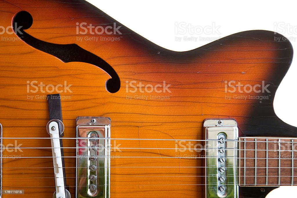 Sixties Guitar stock photo