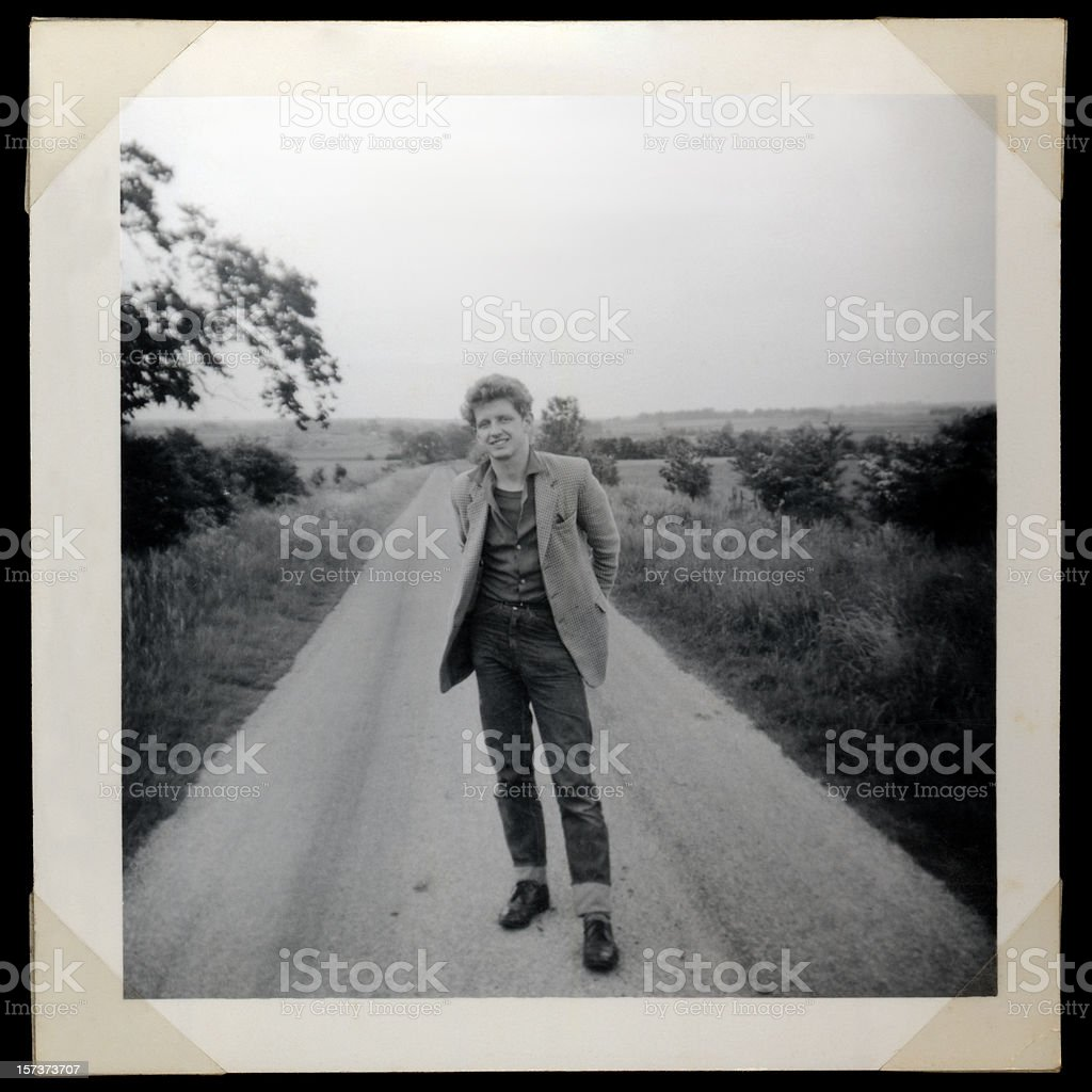 Sixties man stock photo