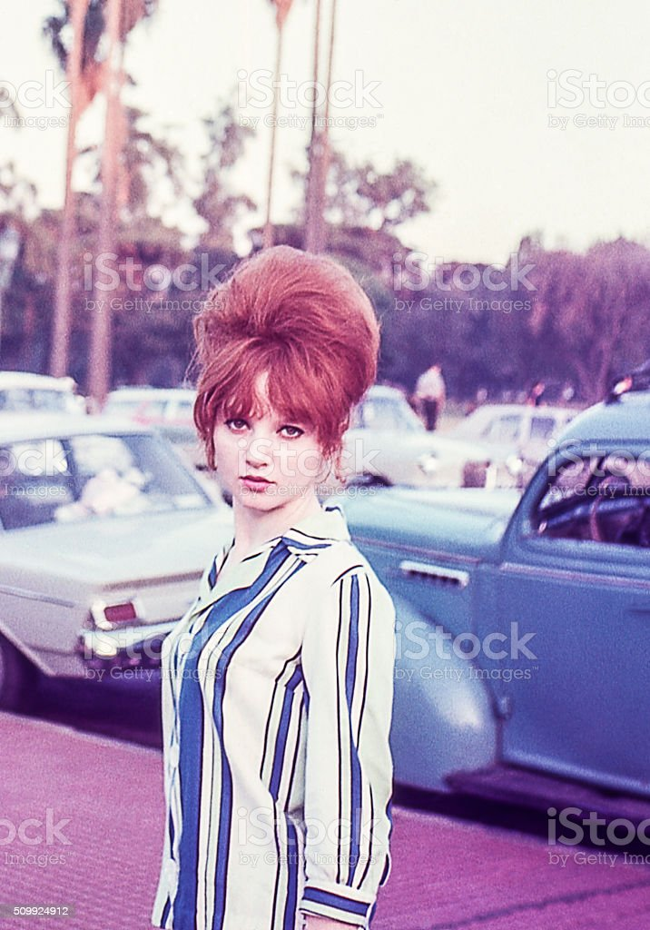 Sixties Redhead stock photo