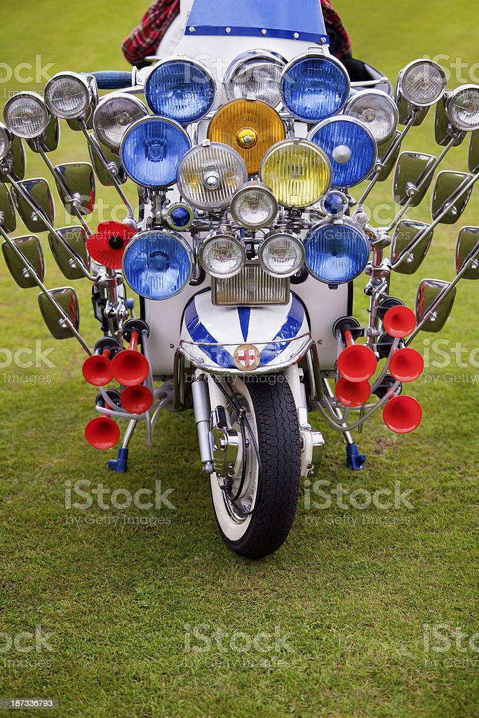 Sixties Scooter stock photo