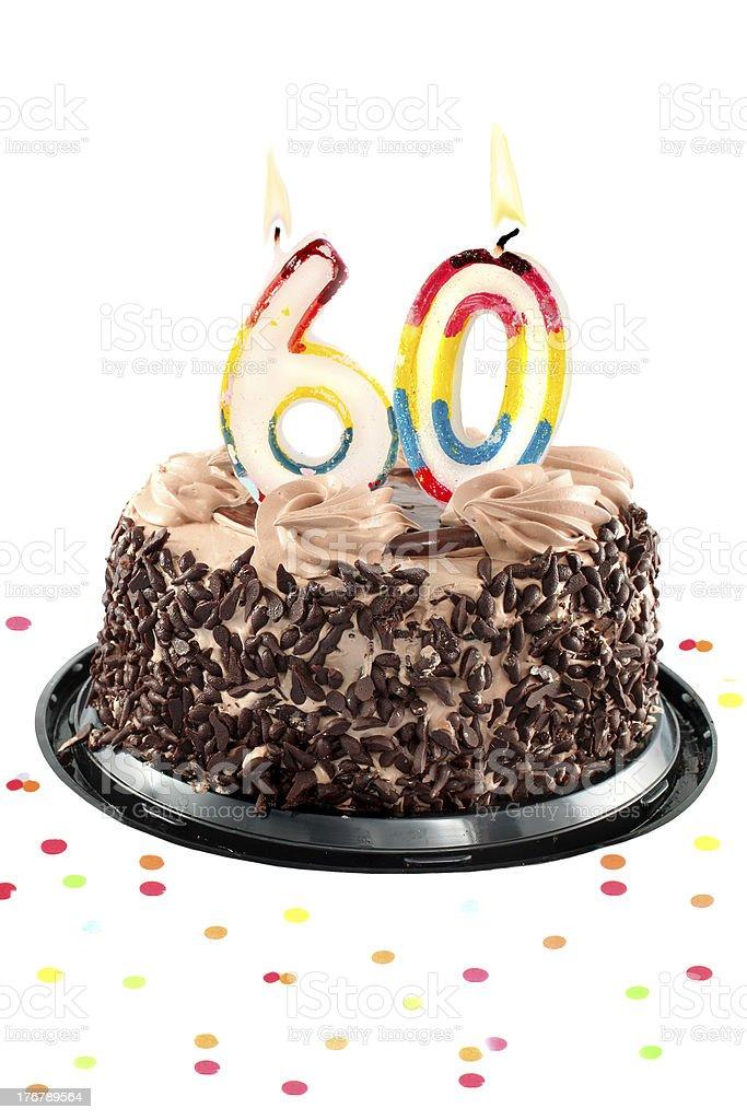 Sixtieth birthday or anniversary stock photo