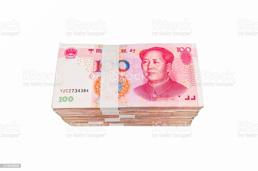 sixty thousand chinese yuan isolated stock photo