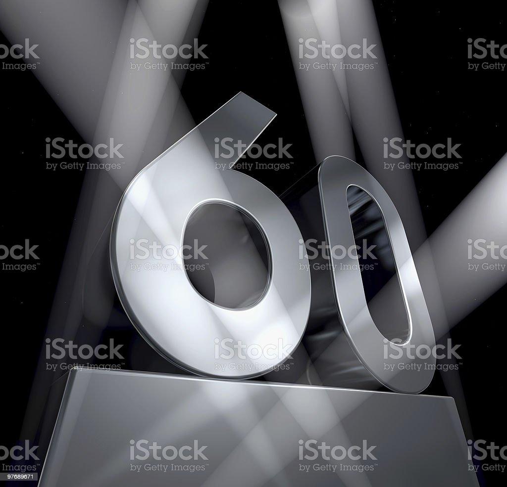 sixty year celebration monument 60 stock photo