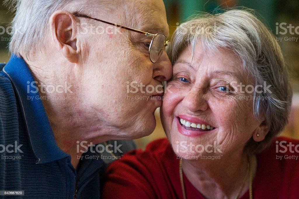 Sixty years together and still in love! stock photo