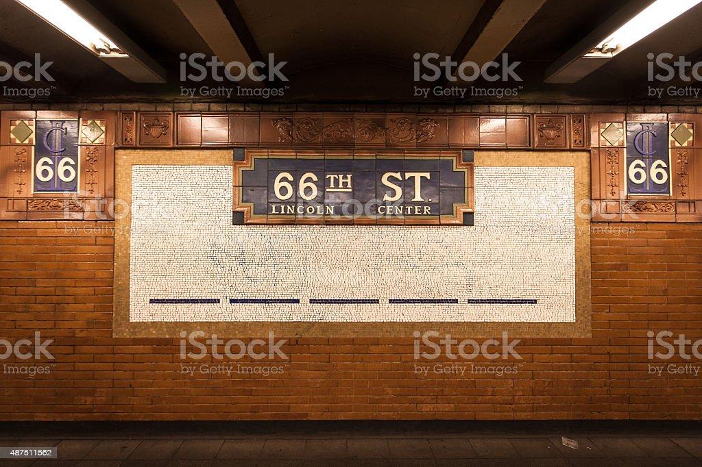 Sixty-sixth Street Subway Mosaic stock photo