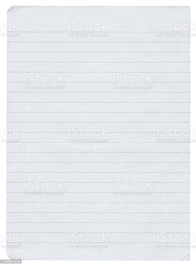 XL size lined paper stock photo