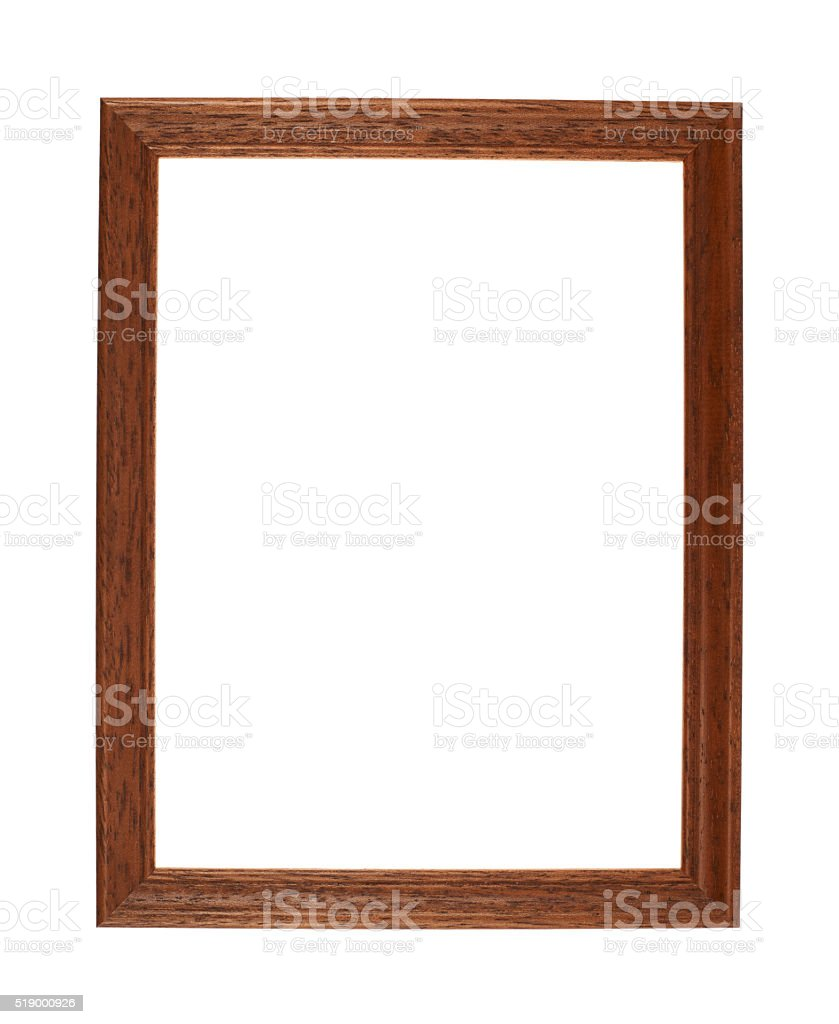 A4 size photo frame isolated stock photo