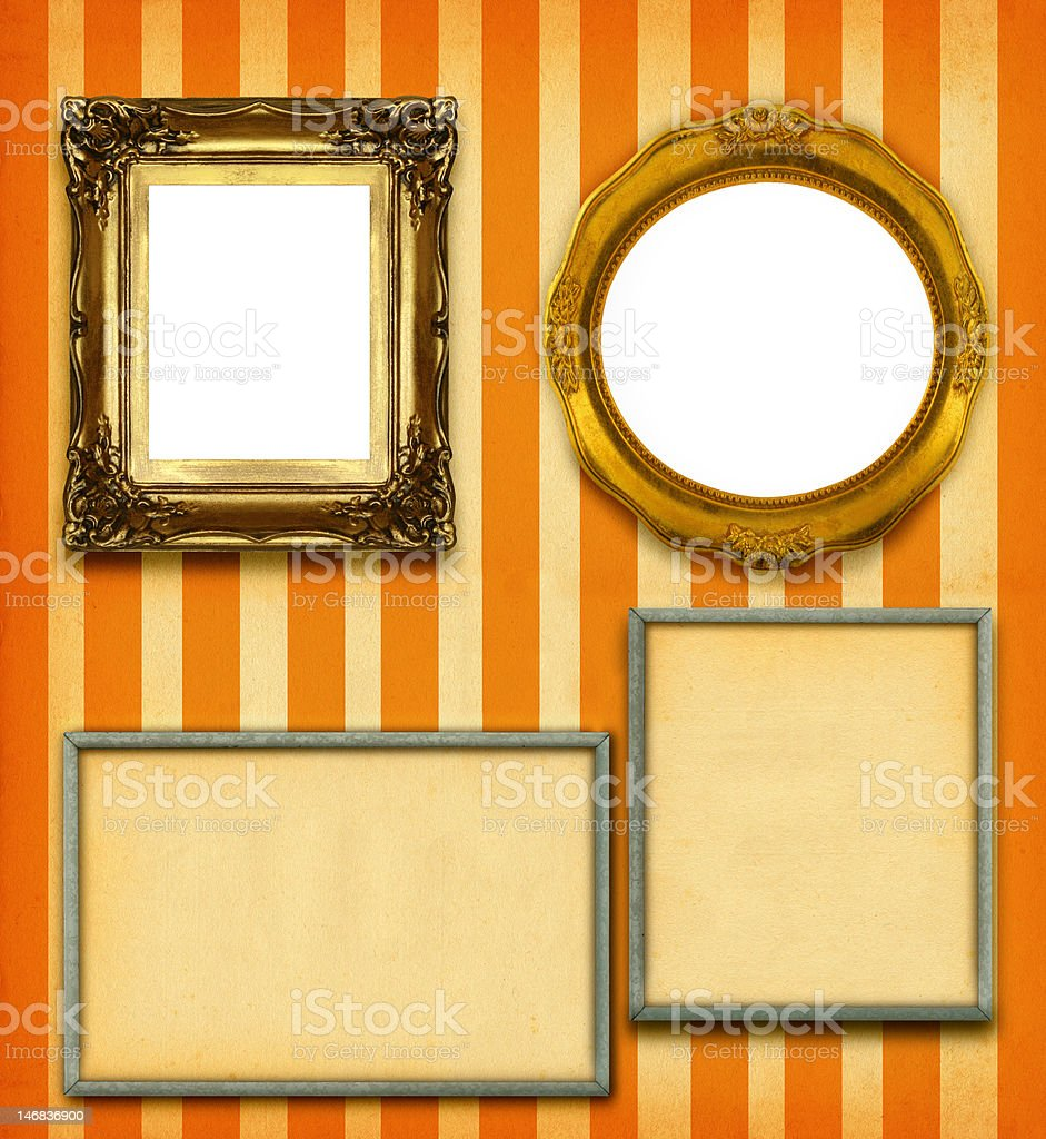 XXL size selection of picture frames royalty-free stock photo