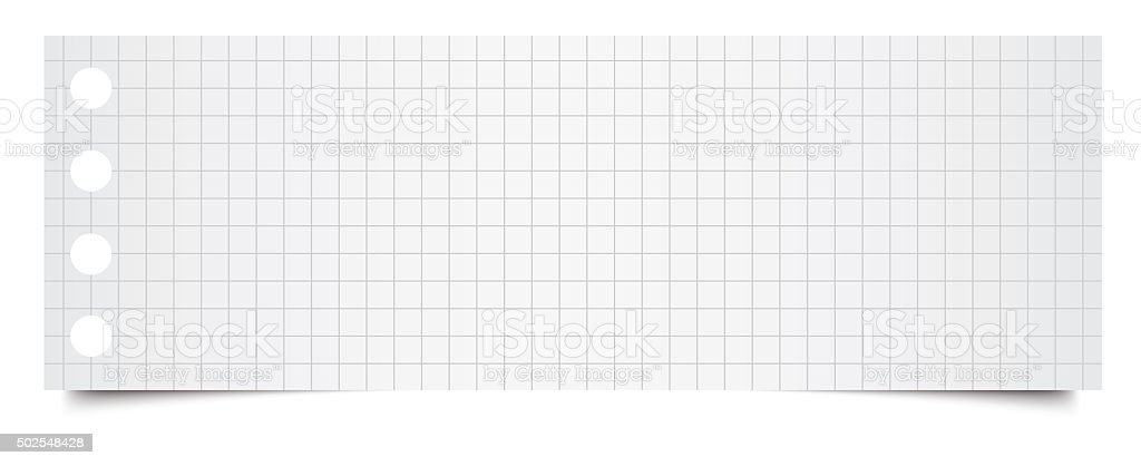 XXL size squared paper stock photo