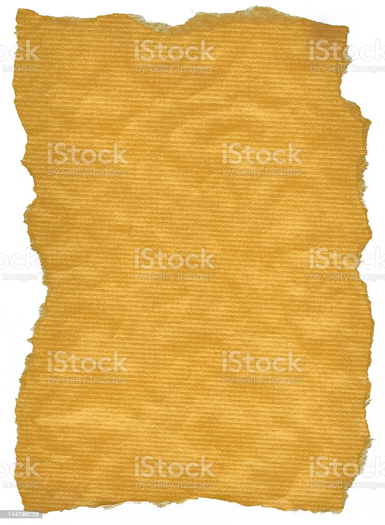XXL size torn out wrapping paper on white royalty-free stock photo