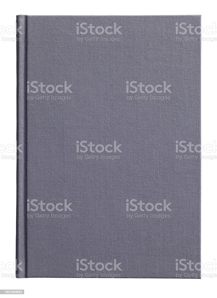 A4 sized black hardback book, showing clipping path stock photo