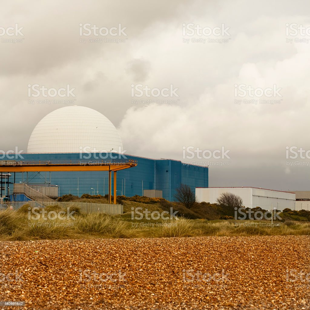 Sizewell B nuclear power station in Suffolk royalty-free stock photo